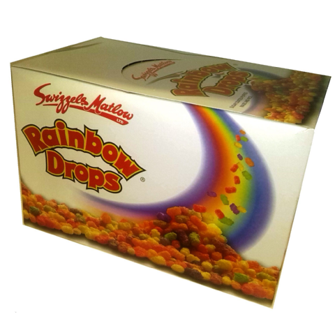 60 x Rainbow Drops Candy - Swizzels Matlow Sweets Fun Size Bags - Wholesale Bulk Buy Box